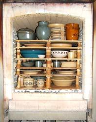 Keramik-Brennofen mit Keramikbesatz, Nutzvolumen mit 1000 l für Anwendungstemperaturen bis 1300 °C